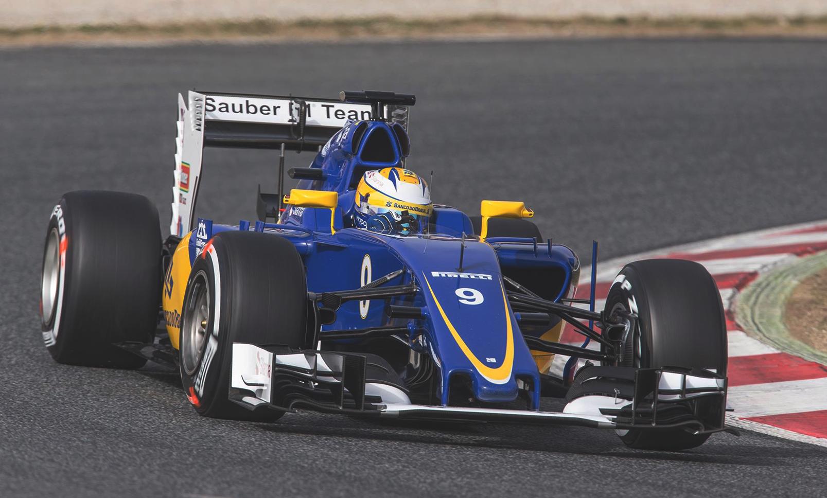 Marcus Ericsson i sin nya Sauber. Foto: Sauber/Facebook