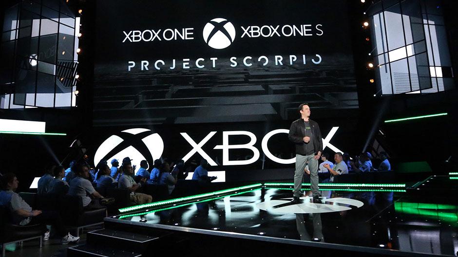 Phil Spencer på Microsofts presskonferens.