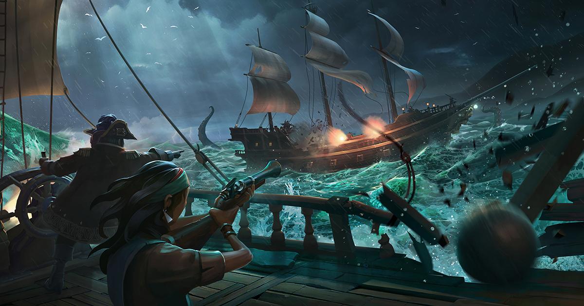 Sea Of Thieves från Rare låter Xbox- och PC-spelare att spela tillsammans, med och emot varandra.