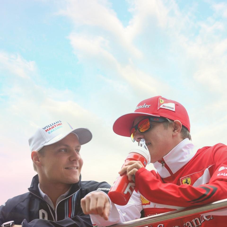 Valtteri Bottas och Kimi Räikkönen